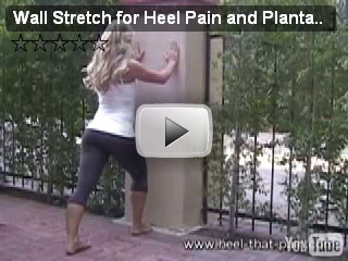 wall stretch 1 for heel pain