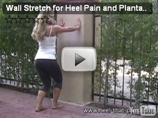 wall stretch 2 for heel pain